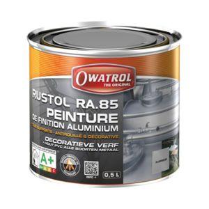 owatrol peinture de finition aluminium ra 85 0 5 l pas cher achat vente peinture. Black Bedroom Furniture Sets. Home Design Ideas