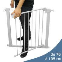 MONSIEUR BEBE - Barrière de sécurité extensible - 9 tailles de 76cm à 135cm
