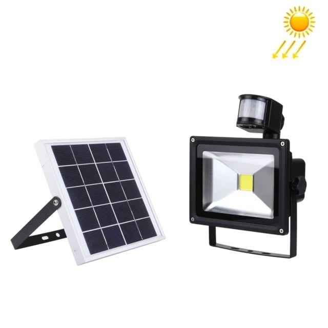 Projecteur Led Avec 1800lm Imperméable À Lumière Lampe Infrarouge Solaire De L'eau Ip65 Panneau 20w Blanche EDHI2W9Y