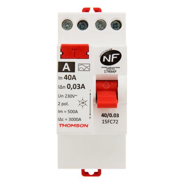 Interrupteur diff/érentiel /à vis Thomson 30mA type A 63A NF
