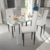 Vidaxl Lot de 4 chaises blanches aux lignes fines avec une table en verre