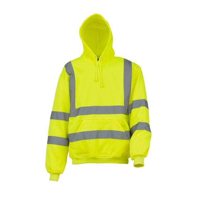 Yoko Sweatshirt à capuche haute visibilité - Homme Lot de 2, XL, Jaune Utrw6877