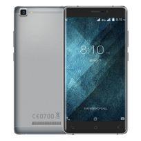 YONIS - Smartphone Android 6.0 Quad Core 4G 5.5 Pouces HD Dual Sim 16Go Gris