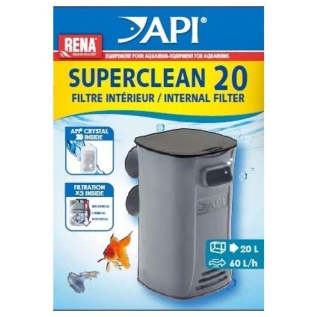 Rena Api - Filtre Intérieur SuperClean 20 pour Aquarium