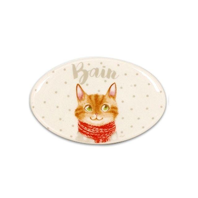 Plaque de porte - Bain - Décoration chats - Chaton
