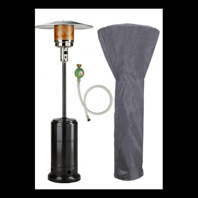 Kemper 6541090nef Parasol chauffant /à gaz 13kw noir Soleado