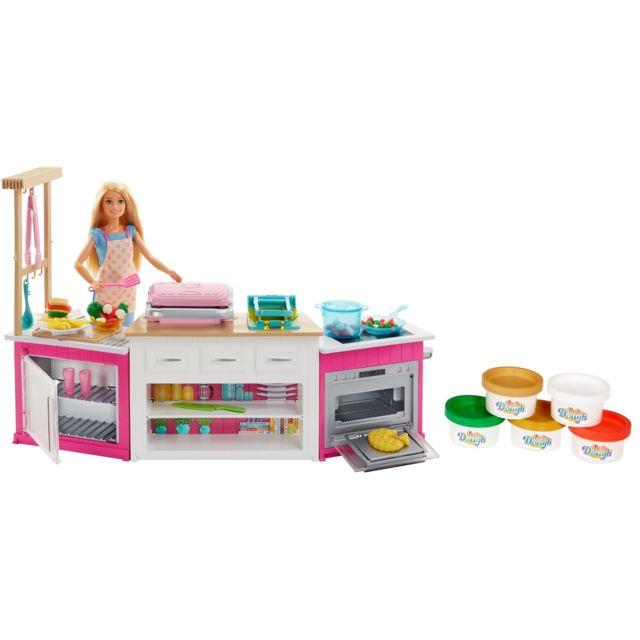 Barbie Coffret Poupée Mannequin - Cuisine à Modeler - FRH73