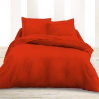 Today - Drap plat 240x300cm rouge Pomme d'Amour