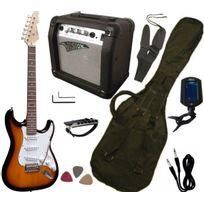 Vision - Pack Guitare Electrique, Ampli15W, Accordeur électronique 7 Accessoires