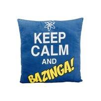 United Labels - Peluche - The Big Bang Theory coussin peluche Keep Calm and Bazinga 40 x 40 cm