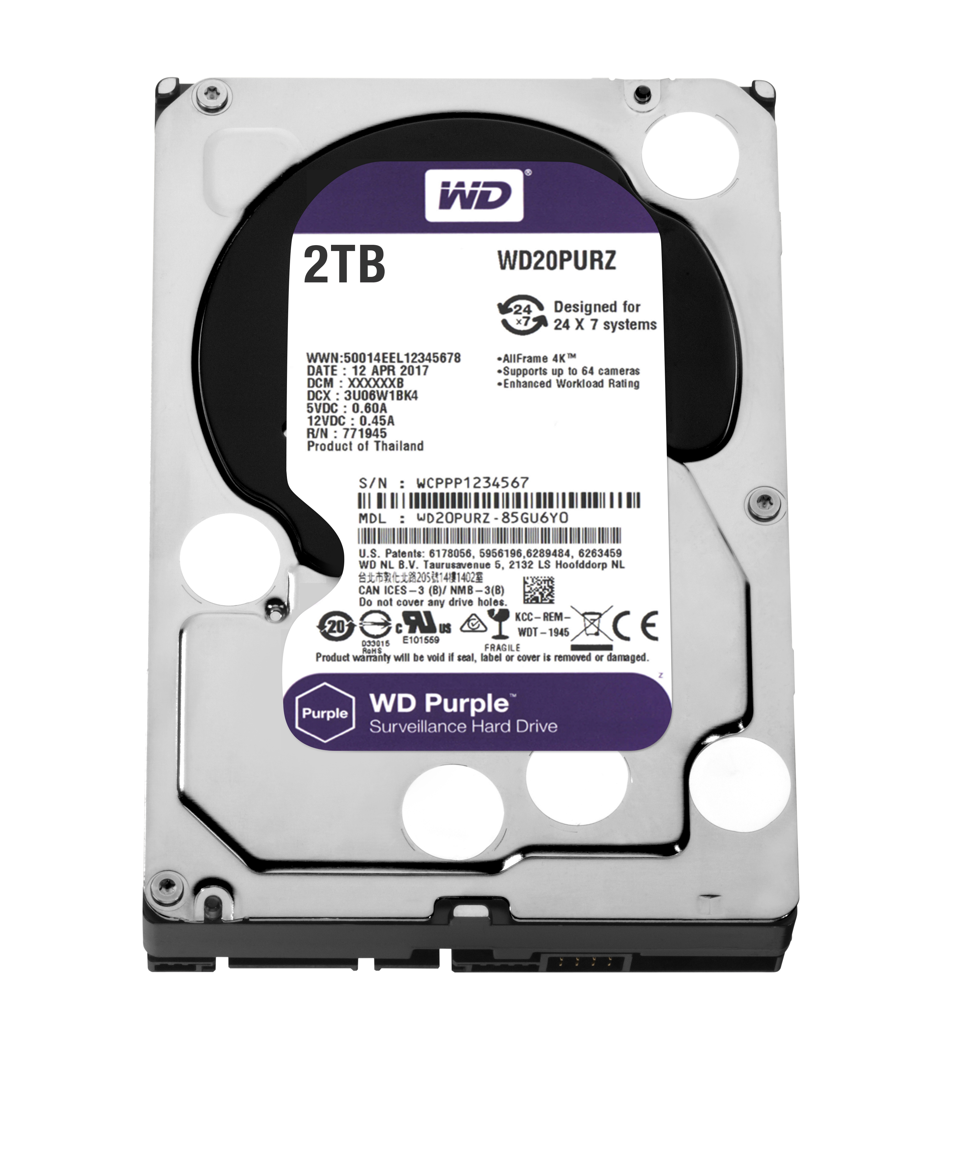 WD PURPLE 2 To 3.5''