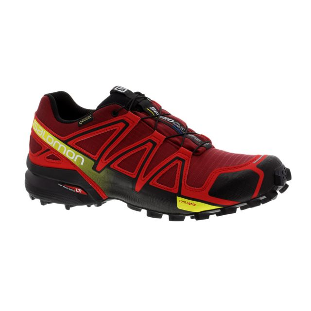Salomon Speedcross 4 Gtx Rouge Et Noire Chaussures trail