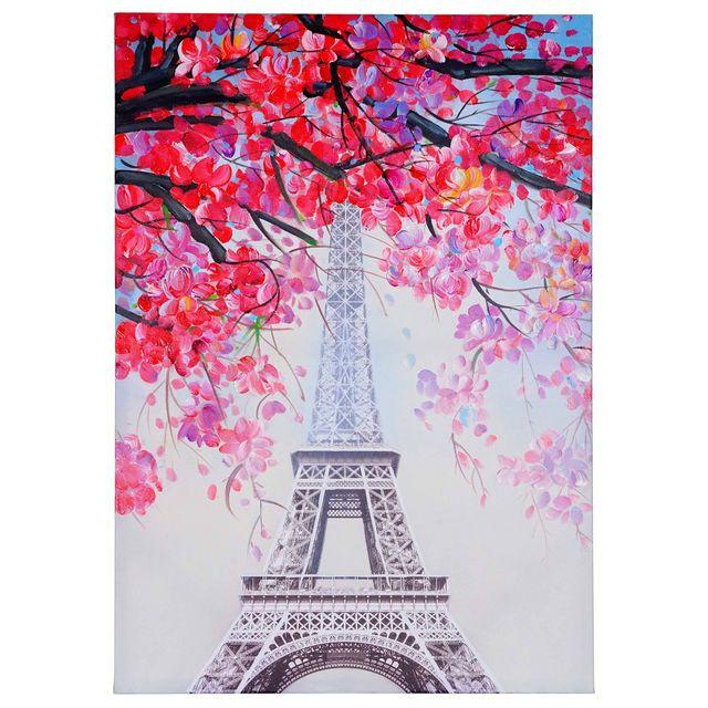 Mendler Tableau A L Huile Tour Eiffel Peint A La Main A 100