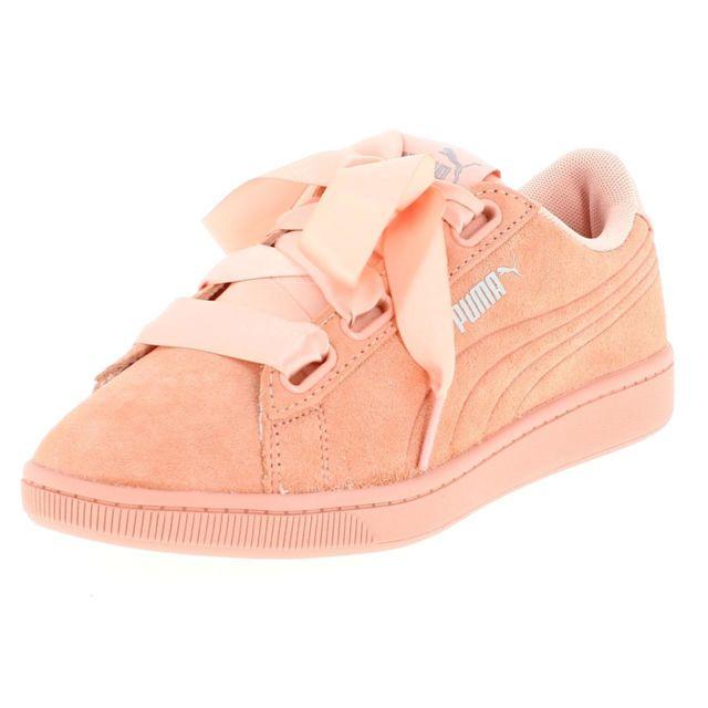Chaussures basses cuir ou simili Vikky v2 ribbon rse l Rose 17050