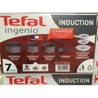 Tefal - Casserole sans poignée Céramique Tous Feux dont Induction 22 cm L2511602 Ingenio