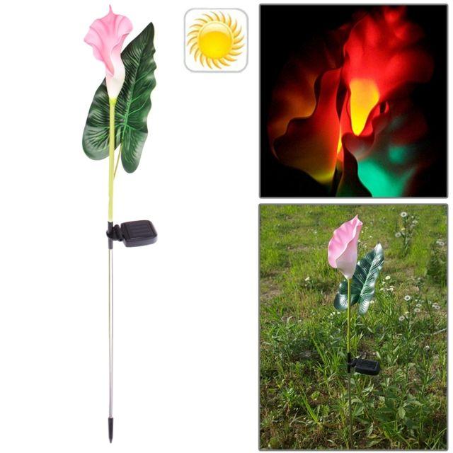 Wewoo - Led Avec panneau solaire Lampadaire de jardin en plastique ...