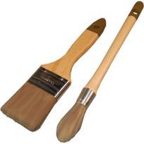 Expert Pro - 2 pinceaux lasure/traitement des bois Ø15mm 40mm