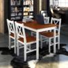 Vidaxl 1 ensemble Table en bois + 4 chaises Couleur Marron
