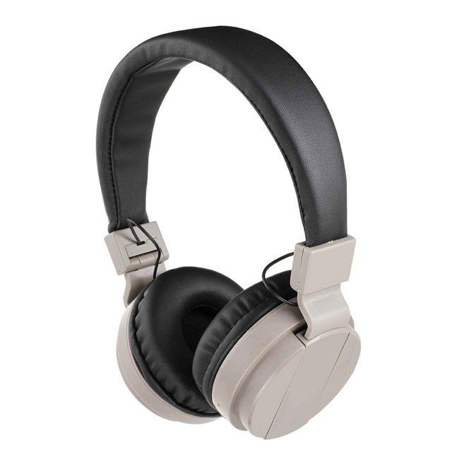 clip sonic technology casque compatible bluetooth gris tes148g pas cher achat vente casque. Black Bedroom Furniture Sets. Home Design Ideas