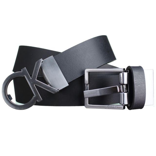 Calvin Klein - Ceinture K50k503266 Coffret 2 Bouc 001 Noir - pas cher Achat    Vente Ceinture homme - RueDuCommerce 7c84300fc50