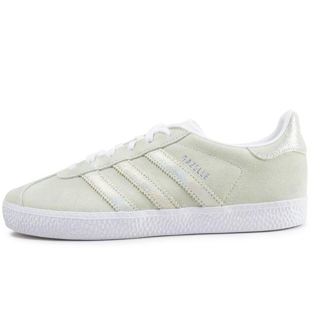 Adidas originals - Gazelle Junior Vert Et Iridescent