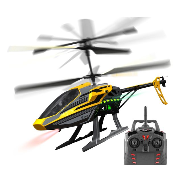 SILVERLIT Hélicoptère radiocommandé 2.4 Ghz Sky Eagle III - 84750 Vol en extérieur ! Technologie 2,4 Ghz, 3 canaux. Contrôle parfait de la vitesse et de la stabilité grâce à un gyroscope intégré. Dès 1