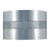 Tosel - Applique murale métal décor perforé longueur 25cm Evasion - Aluminium