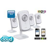 Pack de 4 Caméra réseau domestique Wireless-N 300mbps avec mydlink - 4x DCS-930L