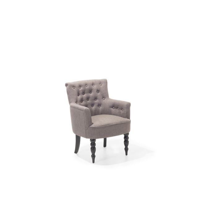 BELIANI Fauteuil en tissu fauteuil tapissé gris clair ALESUND - gris clair