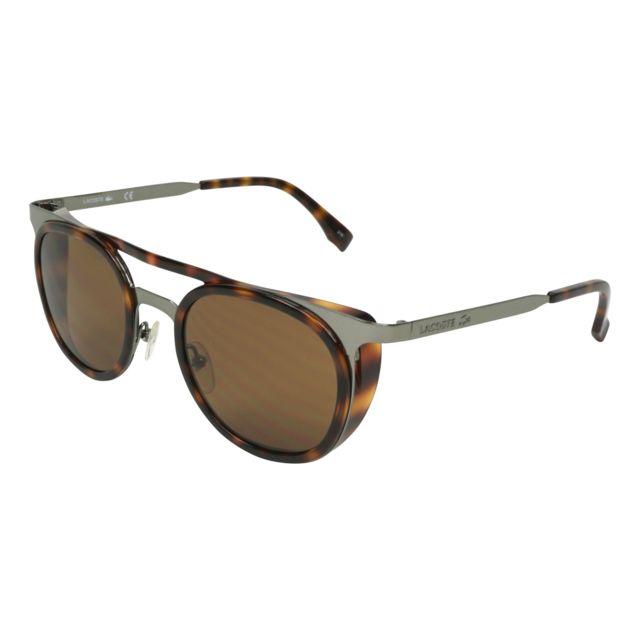 Lacoste - L-823-S 035 Havane - Argent - Lunettes de soleil - pas cher Achat    Vente Lunettes Tendance - RueDuCommerce 3850c9df9e75