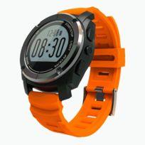 Wewoo - Montre connectée orange Gps Sport Smart Watch, podomètre / fréquence cardiaque / pression / température / hauteur / Auto Lap / rappel sédentaire / moniteur de sommeil