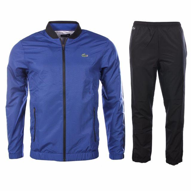 b659ca50f06 Lacoste - homme - Ensemble survêtement Wh2123 Bleu électrique - pas cher  Achat   Vente Survêtement homme - RueDuCommerce