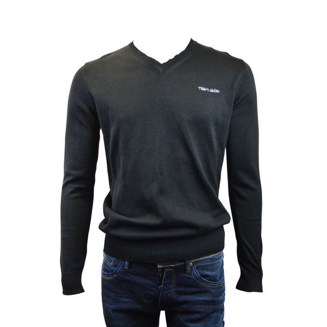 Teddy Smith - Pull pulser jersey j12 noir - pas cher Achat   Vente Pull  homme - RueDuCommerce 22fe2b4cc983