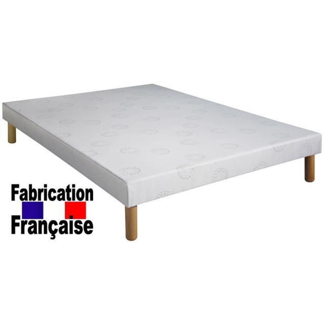 Direct Ameublement - Sommier tapissier 160x200 avec pieds de 30 cm ... 9689ee87fd65