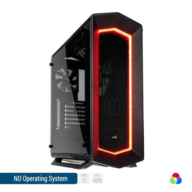 SEDATECH PC Gamer, Intel i7, GTX1070, 500Go SSD, 3To HDD, 32 Go RAM, sans OS. Ref: UCM6128I3