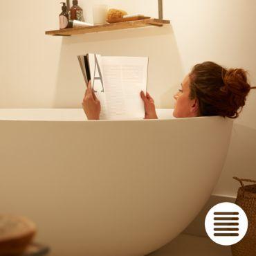 White Ambiance ADORE Plafonnier salle de bain 40W