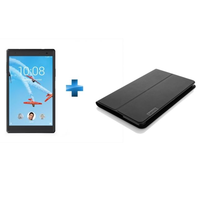 LENOVO - Tab 4 8 Plus - Full HD - 16 Go - Noir + Cover TAB 4