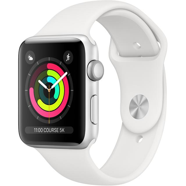 design de qualité 5e5fa 52ffb Watch 3 38 - Alu argent / Bracelet Sport Blanc
