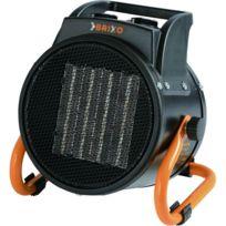 Brixo - Générateur d'air chaud 2000W éléctrique 230V Céramique 3 puissances de chauffe