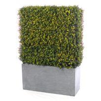 Jardin Artificiel - Muret de buis artificiel - Vert & Jaune