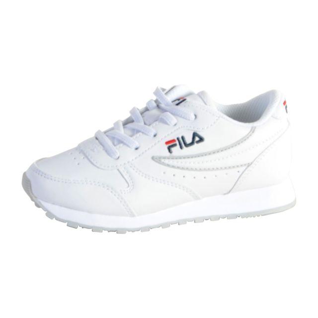 Fila Orbit Low blanc et gris junior Chaussures Enfant