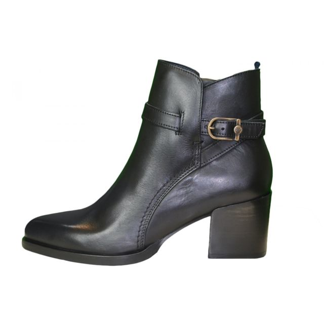 Bottines plates Tommy Hilfiger Tessa en cuir noire pour femme - Couleur: Noir - Taille: 41 oKmymoXD