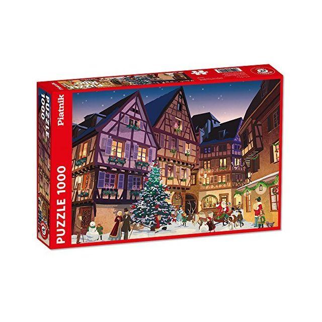 Piatnik Vintage Christmas Village Puzzle Jigsaw 1000 Piece