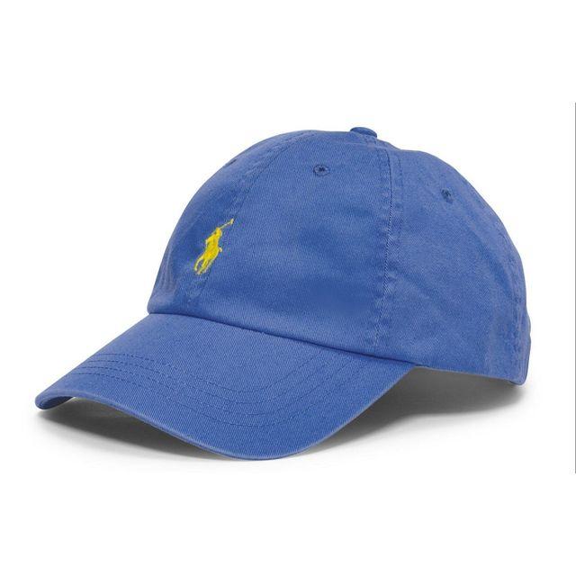 f5a03779c459 Ralph Lauren - Casquette bleu logo jaune - pas cher Achat   Vente ...