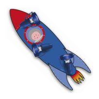 Waldi Leuchten - Lampe Enfant Fusee et Astronaute