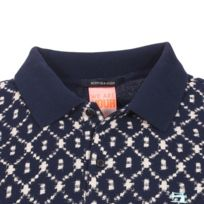 912d89a10033 Scotch And Soda - Polo Scotch   Soda en coton de piqué bleu marine à motifs  beiges