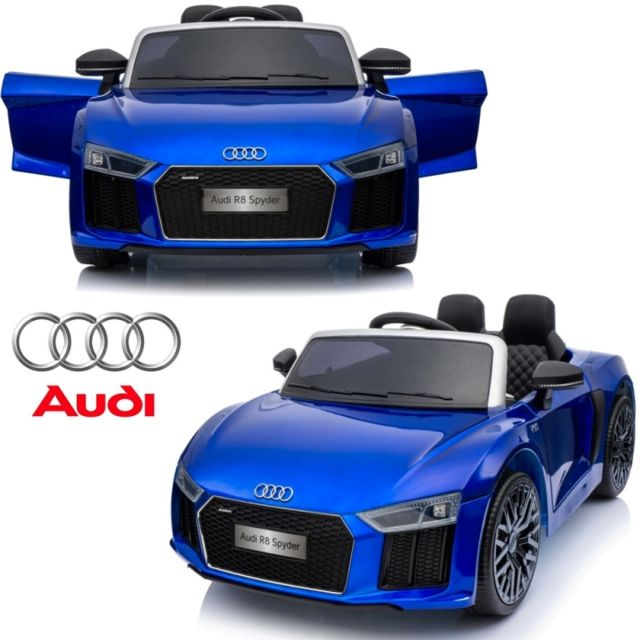 audi petite voiture v hicule lectrique 1er ge enfant b b 12 volts r8 bleu pack luxe pas. Black Bedroom Furniture Sets. Home Design Ideas