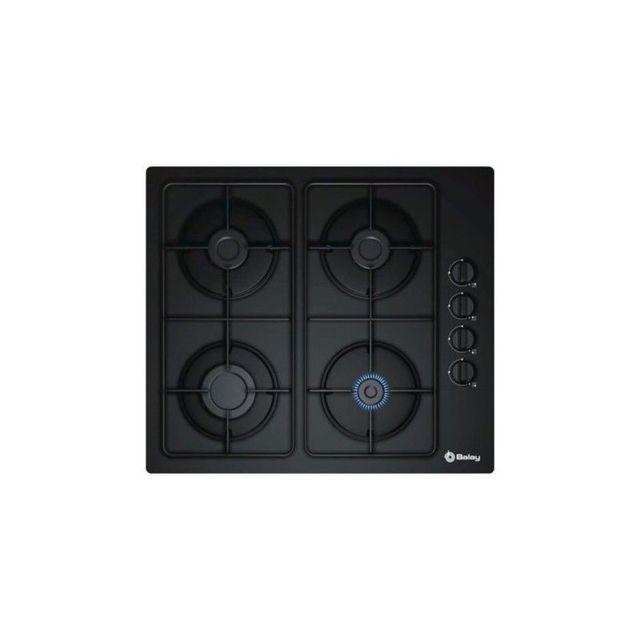 Balay Plaque au gaz 3ETG464MB 60 cm Noir Verre 4 cuisinière