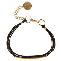 Un Jour Mon Prince - Bracelet E14B73 doré Noir