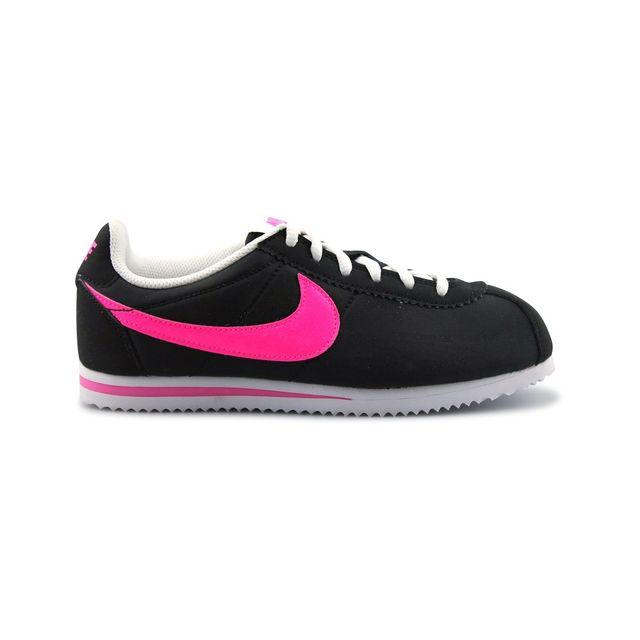 e0316ef04934e Nike - Cortez Nylon Junior Noir - pas cher Achat   Vente Baskets enfant -  RueDuCommerce